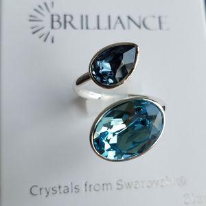 Swarovski Brilliance Aquamarine Ring size 7